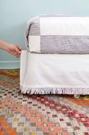 diy velcro bedskirt u2013 a beautiful mess