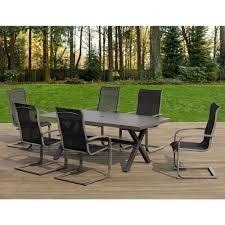 7 Piece Aluminum Patio Dining Set - ove decors mulholland 7 piece aluminum rectangular outdoor dining