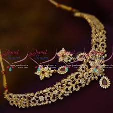 small necklace designs images Nl9965 american diamond small size choker necklace latest low JPG