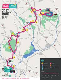 Marathon Route Map by The Route Vitality North London Half