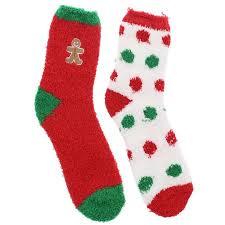 fuzzy christmas socks gold medal women s christmas fuzzy butter slipper socks 2 pr
