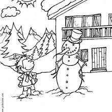 happy snowman family coloring pages hellokids com