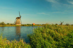kinderdijk sunset wallpapers colorful autumn scene in the famous kinderdijk canals with