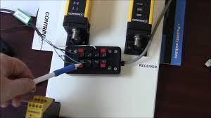 wiring a contrinex safetinex light curtain youtube