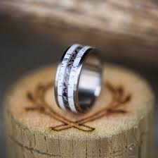 wedding band for elk antler camo wedding band available in titanium silver