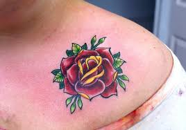 26 beautiful traditional rose tattoo designs creativefan
