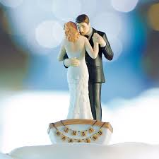 cake topper wedding couple in row boat wedding cake top