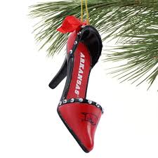 razorbacks team high heel shoe ornament