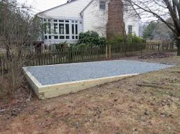 shed foundation gravel shed pad landscape ideas pinterest