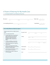 Lasting Power Of Attorney Forms Free by 50 Free Power Of Attorney Forms U0026 Templates Durable Medical General