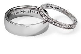 engraved wedding rings engraving services blue nile