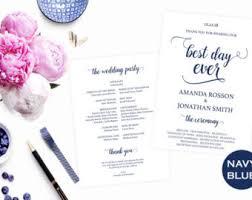 downloadable wedding programs printable wedding program template diy wedding program