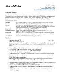 Sample Resume For Software Engineer With 1 Year Experience by Linux Administrator Resume 1 Year Experience 3469