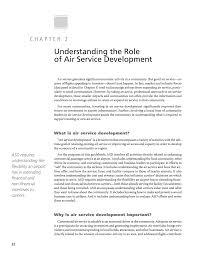 part i overview of air service development passenger air