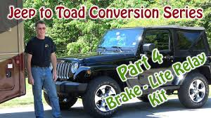 jeep to rv toad dingy conversion roadmaster brake lite relay
