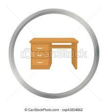 arriere plan bureau animé style illustration bureau symbole isolé arrière plan clip