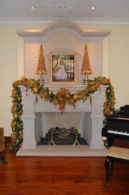 christmas whimsy garland on your fireplace mantle
