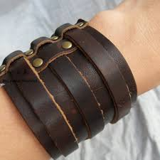 leather wrist strap bracelet images Best men leather wrist cuffs products on wanelo jpg