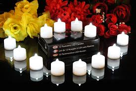 halloween led candles 12 white battery tea lights flickering flameless electric