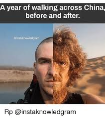 Meme China - a year of walking across china before and after rp meme on
