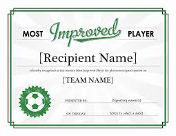 most improved player certificate templates office com y13m07