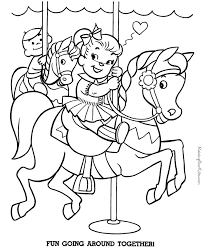 kid coloring pages of horse 012
