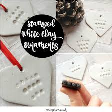 diy sted white clay ornaments crafts on sea