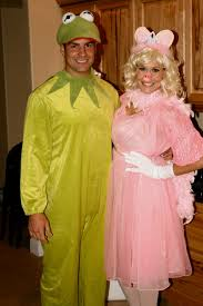 unique couples halloween costume ideas kermit the frog and miss piggy homemade halloween costume