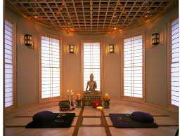 ambient light zen asian inspired two tone wood floor interior