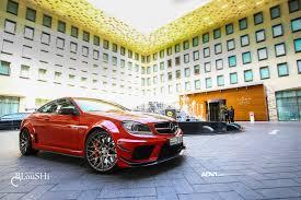red mercedes benz c63 amg gets adv10 0 m v2 wheels adv 1 wheels