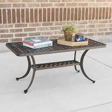 Aluminum Coffee Table Walker Edison Cast Aluminum Wicker Style Patio Coffee Table