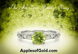 vintage peridot rings a bright splash of color for time tested