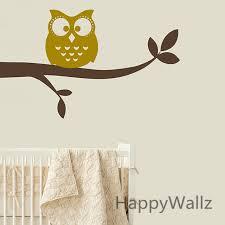 stickers animaux chambre b hibou sur la branche sticker mural diy bébé pépinière hibou branche