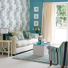 living room retro floral wallpaper ideas nice cream room