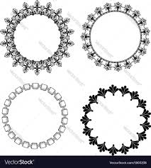 a set of frames with ornament royalty free vector