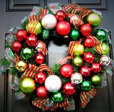 wreath made of ornaments ribbon traditional dc metro