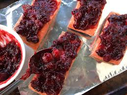 cranberry sauce thanksgiving recipe salmon with cranberry ginger mustard sauce sous vide u0026 slow