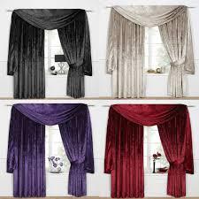Deep Red Velvet Curtains Velour Curtains Ebay