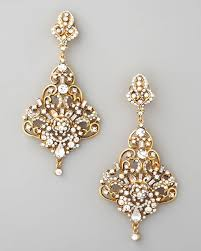 gold chandelier earrings jose barrera gold chandelier earrings with regard to