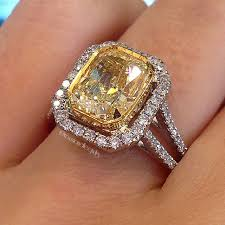 canary yellow engagement ring yellow wedding rings wedding rings wedding ideas and