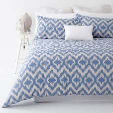 ikat blue quilt cover set by in 2 linen linen room