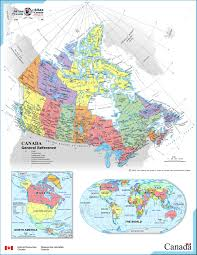 The United States And Canada Political Map by Large Detailed Full Political And Administrative Map Of Canada