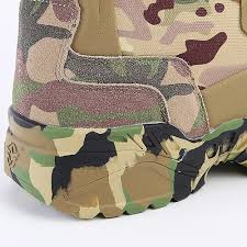 new outdoor men high hiking boots camo hunting boots wearable