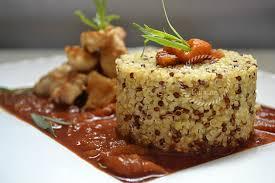 cuisiner du quinoa quinoa et boulgour au poulet basquaise recette de cuisine