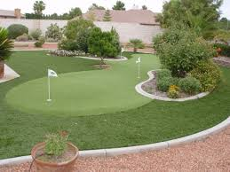 Backyard Golf Green by Synthetic Grass Backyard Putting Greens