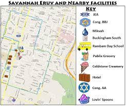 Map Of Savannah Ga Large Eruv Checked Weekly Congregation Bnai Brith Jacob