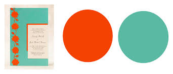 great summer color combinations for your wedding orange color