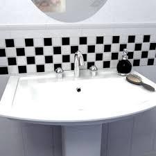 Black And White Checkered Tile Bathroom Somertile 12 5x12 5 Knight Matte Black White Checkerboard
