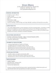 4 Resumes Samples For Teachers by Download Sample Resume Format Haadyaooverbayresort Com