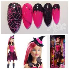 azusa barbie nails for halloween witch barbie doll 2016